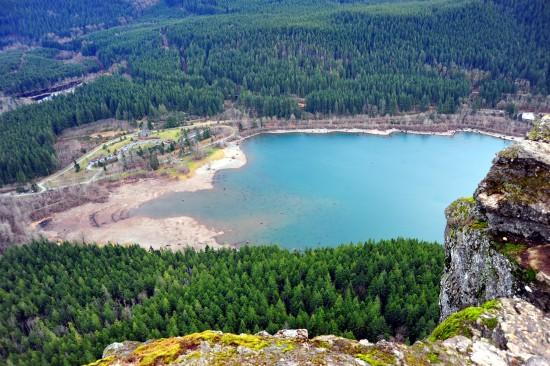Der See von oben