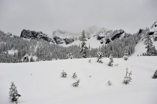 In Richtung Gipfel des Kendall Peak