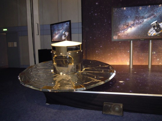 """Our"" Gaia satellite as 1:4 model"