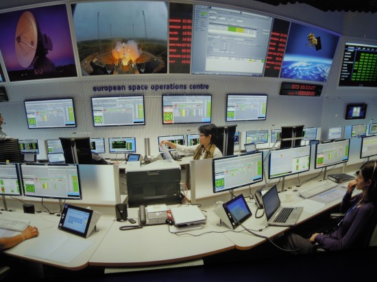 ESOC Controll Room, picture of picture