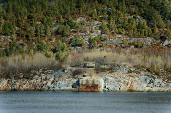 World War Bunkers at the Trondheim Fjord