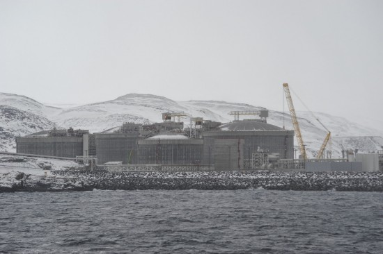 Snøhvitfeltet Natural Gas Liquidization Plant near Hammerfest