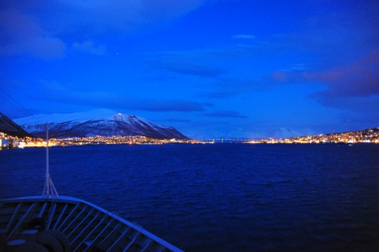 Arriving Tromsø at Night