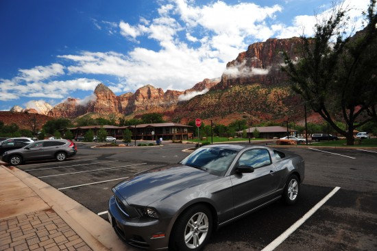 If they give you a Mustang for this tour, why not? In the Zion NP